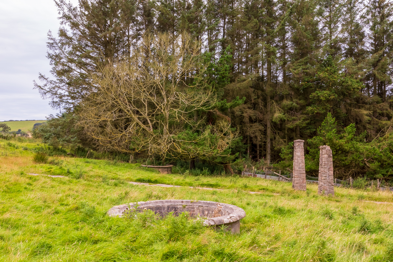 Camp 110 - Stuartfield - Stone pillars & fountain bowls