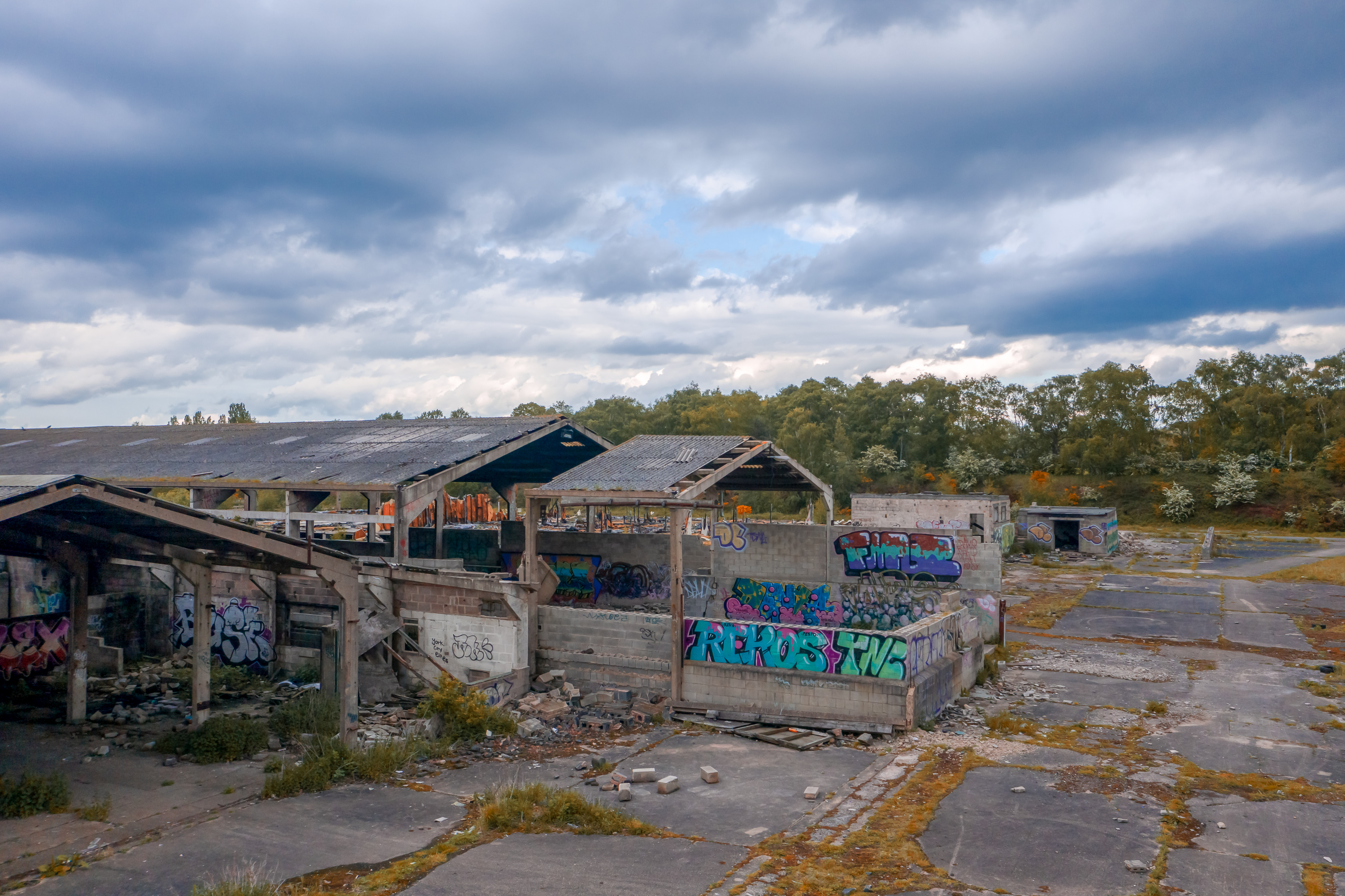 Camp 53 - Used as a Mushroom Farm, Buildings set on fire and vandalised after the farm closed